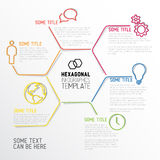Modern hexagonal Infographic report template made from lines Stock Images