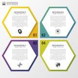 Modern hexagons. Infographic design template. Vector illustration.  Stock Photos