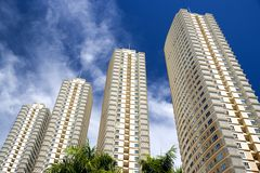 Modern Hi-Rise Apartments. Image of modern hi-rise apartments in Malaysia Royalty Free Stock Images