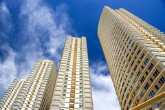Modern Hi-Rise Apartments royalty free stock photo