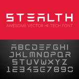 Modern Hi-Tech Font. Vector Techno Alphabet Royalty Free Stock Image
