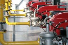 Modern hi-tech gas boiler-house Stock Images