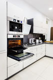 Modern hi-tek kitchen, oven with door open Royalty Free Stock Photography