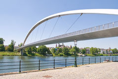 Modern High bridge in Maastricht Stock Images