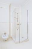 Modern high gloss shower Royalty Free Stock Photography