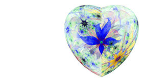 Modern high resolution heart flower background in vibrant colors Royalty Free Stock Photo