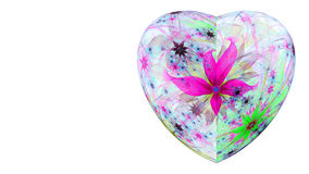 Modern high resolution heart flower background in vibrant colors Stock Photos