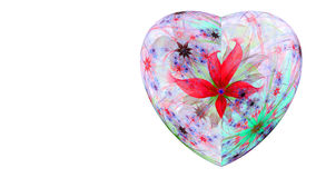Modern high resolution heart flower background in vibrant colors Royalty Free Stock Images