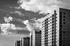 Modern High Rise Apartment Buildings Royalty Free Stock Photos