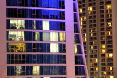 High-rise apartment building night scene Royalty Free Stock Photography