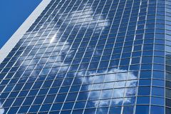 Modern high-rise with bank or office in Frankfurt. Am Main Royalty Free Stock Image