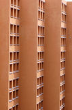 Modern high rise building. Exterior of windows on modern high rise building royalty free stock images