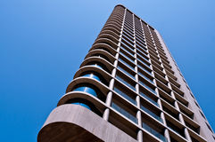 Modern High Rise Building. Modern architecture residential structure in  downtown Eindhoven Stock Photo