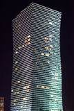 Modern the high-rise building night. Astana. Kazakhstan Stock Image