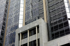 Modern High Rise Building, Reflections in Glass Facade Stock Photo
