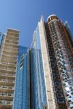 Modern high-rise building under construction. Royalty Free Stock Photography