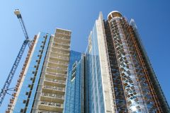 Modern high-rise building under construction. Stock Image