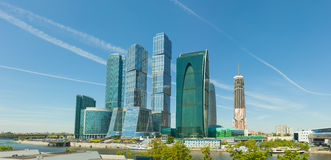 Modern High-rise Buildings in Central Moscow, Russia Stock Images