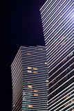Modern the high-rise buildings night. Astana. Kazakhstan Stock Images