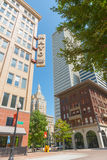 Modern high-rise real estate in city center Tulsa including Mayo Stock Photography