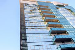 Modern high rise residential building. In the city of Chisinau royalty free stock images