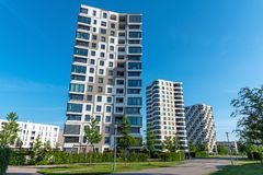 Modern high-rise residential buildings Royalty Free Stock Photography
