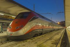 Modern high-speed passenger train Stock Images