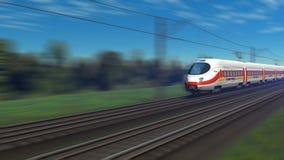 Modern high speed passenger train stock video footage