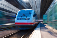 Modern high speed train Stock Photo