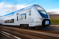 Modern high speed train Royalty Free Stock Images
