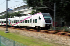 Modern High Speed Train. Image of a modern high speed standing train in motion stock images