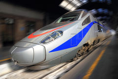 Modern high speed train. In railway station Royalty Free Stock Photography