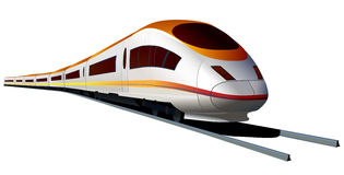 Modern high speed train . royalty free illustration