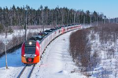 Modern high-speed train. stock images