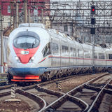 Modern high-speed train. Stock Photo