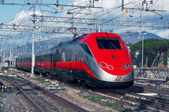 The modern high-speed train Stock Photo