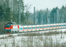 Modern high-speed train Stock Photos