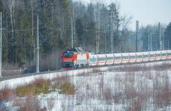 Modern high-speed train. Stock Image