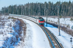 Modern high-speed train. Royalty Free Stock Image