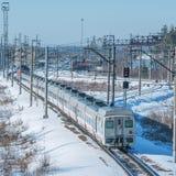 Modern high-speed train. Stock Photos