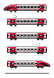 Modern High Speed Train Set Stock Images