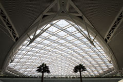 The modern High Speed Train station building structure Royalty Free Stock Photography