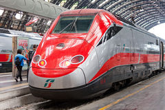 Modern high-speed train at the station. Royalty Free Stock Images
