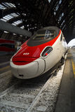 Modern High Speed Train Stop Railway Station Royalty Free Stock Photo