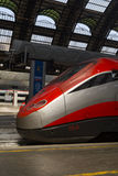 Modern High Speed Train Stop Railway Station Stock Photography