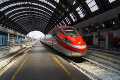 Modern High Speed Train Stop Railway Station Stock Photos