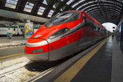 Modern High Speed Train Stop Railway Station Royalty Free Stock Photography