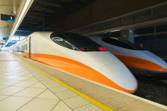 Modern High Speed Train. Taiwan railway high speed train Royalty Free Stock Photography