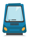 Modern high speed train vector illustration. Royalty Free Stock Photo