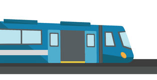 Modern high speed train vector illustration. Stock Photography